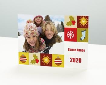 Carte de vœux particulier - Mandalas de Noël - 1