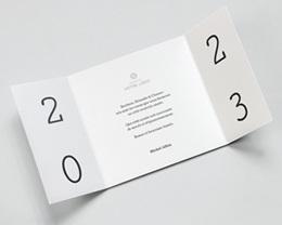 Carte de voeux avec logo d'entreprise Protégeons la nature 2 volets pas cher