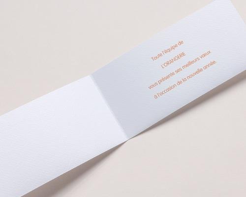 Carte de Voeux Entreprise Voeux Orange pas cher