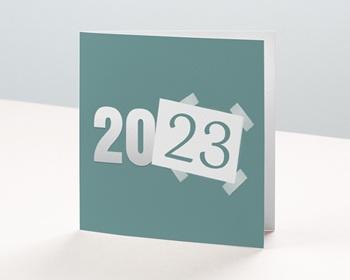 Carte de Voeux Professionnelle 2021 Année scotchée
