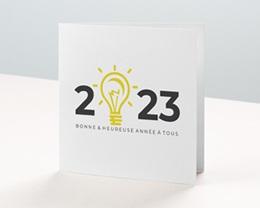 Carte de voeux avec logo d'entreprise Nouveaux défis