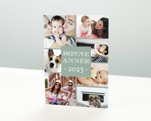 Carte de vœux particulier - Message Bonne Année