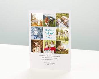 Carte de vœux particulier - Souhaits de Famille - 1