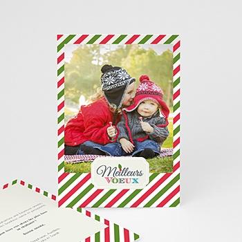Carte de vœux particulier - Polaroid coloré - 1