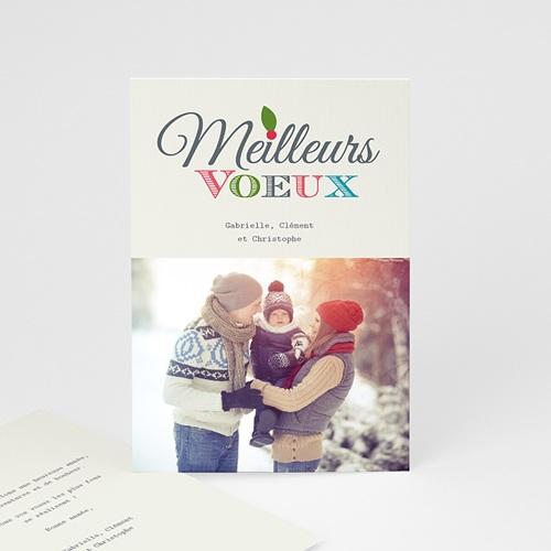 Carte de vœux particulier - Typo