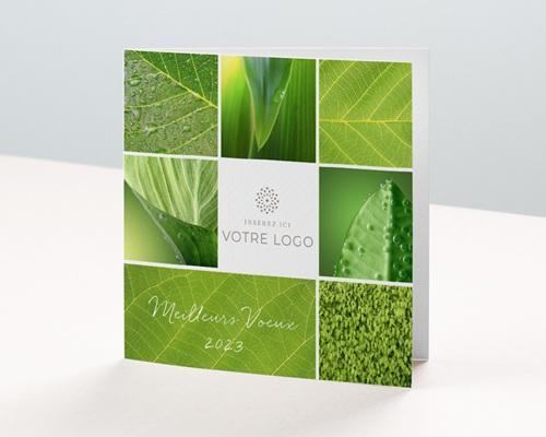 Carte de voeux entreprise - Ecologie et nature