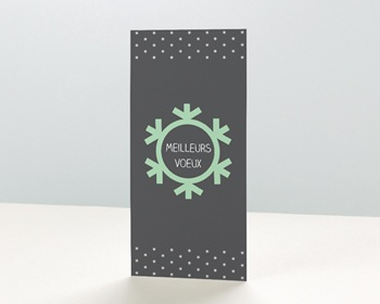 Carte de Voeux Entreprise Flocon de Noel personnalisable