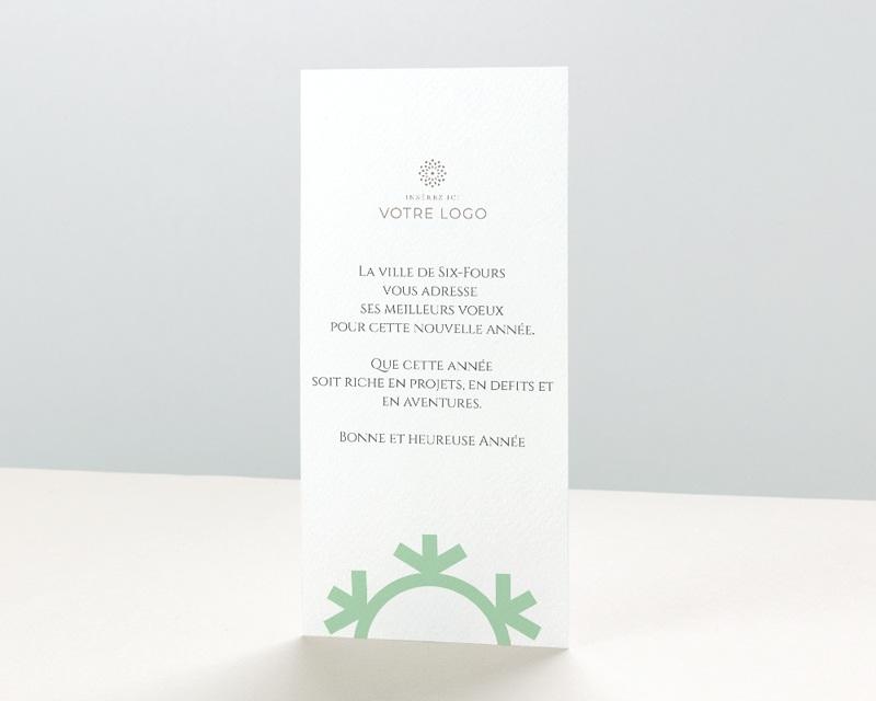 Carte de Voeux Entreprise Flocon de Noel pas cher