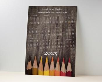 Calendrier entreprise Crayons de couleurs