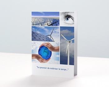 Carte de voeux entreprise - Energie nouvelle - 1