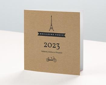 Carte de Voeux Professionnelle Paris Kraft