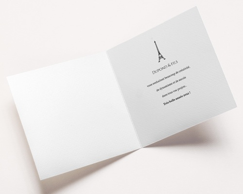 Carte de Voeux Entreprise Paris Kraft pas cher