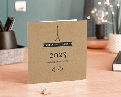 Carte de Voeux Entreprise Paris Kraft gratuit