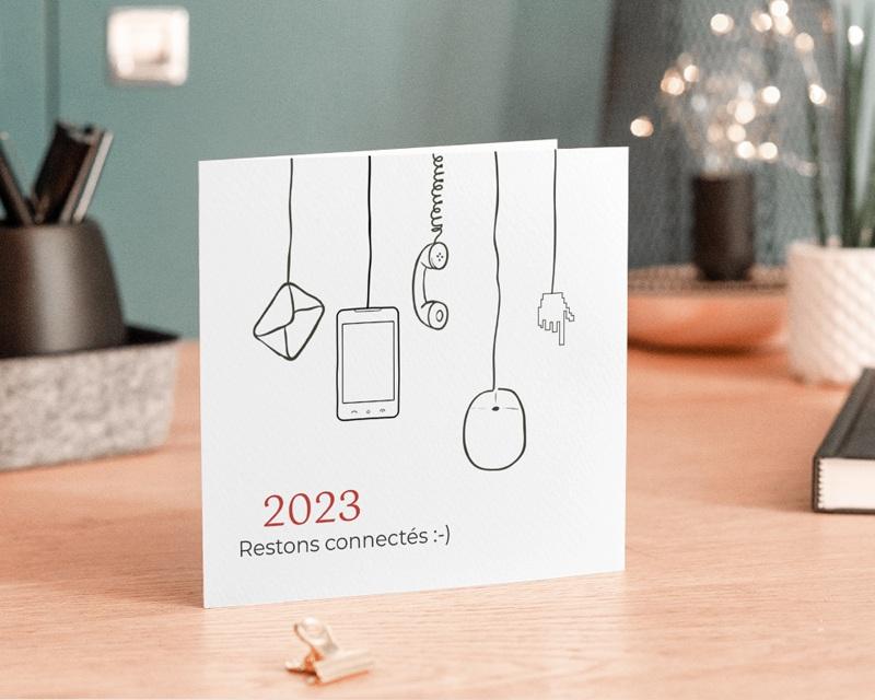 Carte de Voeux Entreprise Stay Connected gratuit