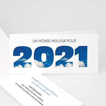 Carte de Voeux Entreprise 2021 Crever le plafond