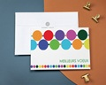 Carte de vœux particulier - Envie de couleurs