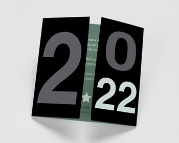 Carte de voeux entreprise - Noir & Vert - 1
