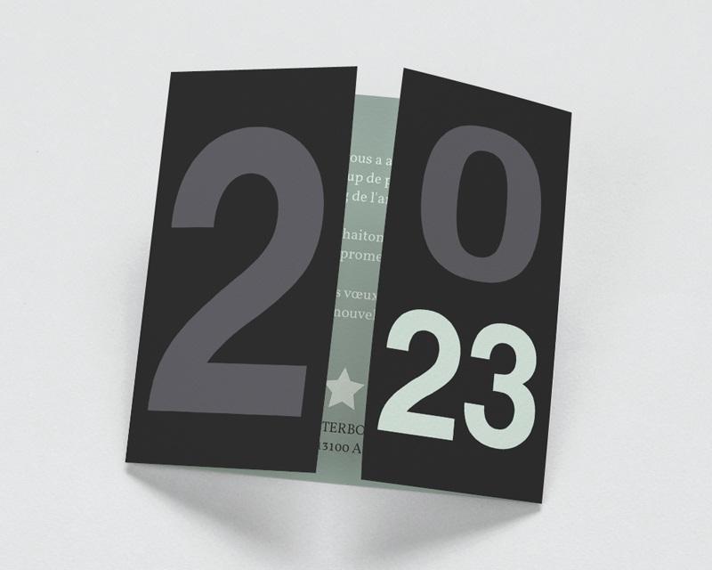 Carte de Voeux Entreprise Année à l'honneur
