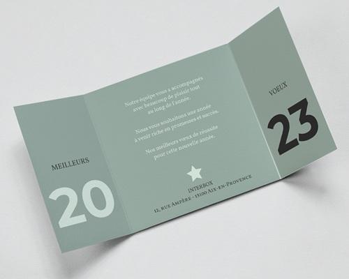 Carte de Voeux Entreprise Année à l'honneur pas cher