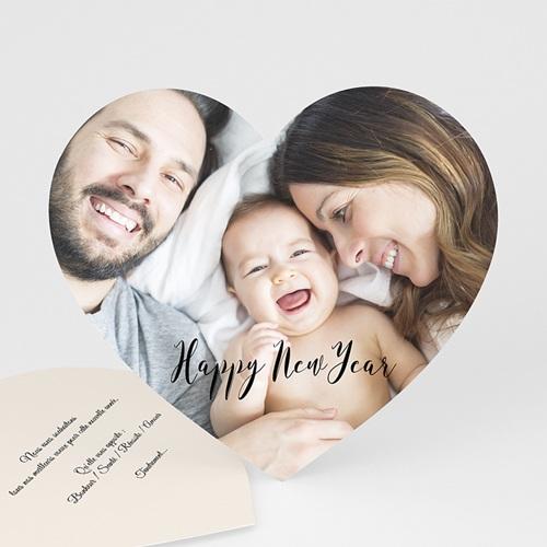 Carte de vœux particulier - Les voeux du Coeur