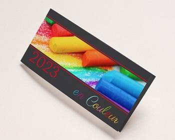 Carte de Voeux Professionnelle En couleur