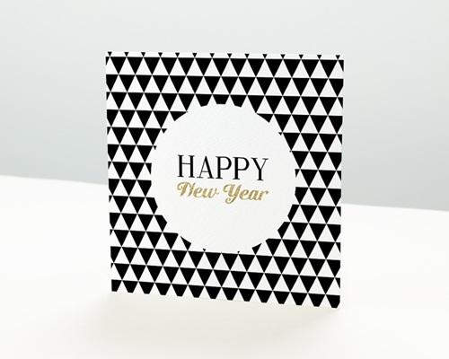 Carte de vœux particulier - Black & White