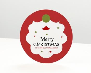 Carte de vœux particulier - Barbe de Noel - 0