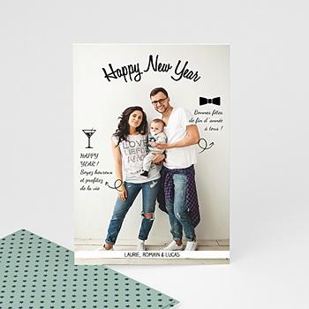 Carte de vœux particulier - Voeux de famille - 0