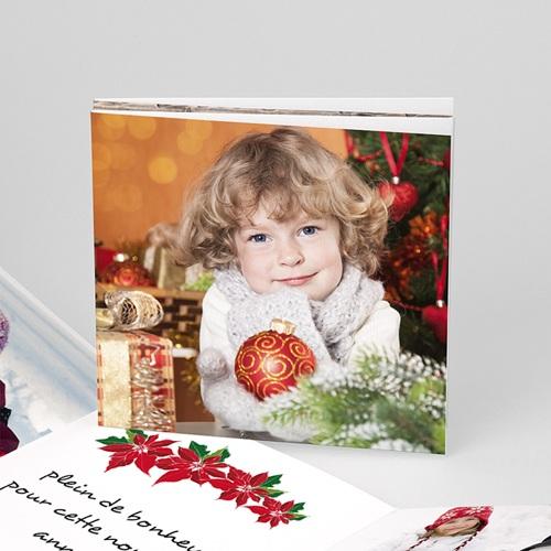 Carte de vœux particulier - Carte dépliable pour voeux