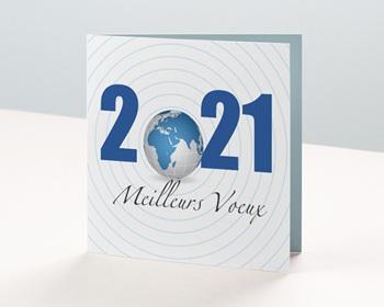 Carte de Voeux Entreprise 2021 Planète