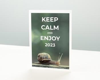 Carte de Voeux Entreprise Keep Calm personnalisable
