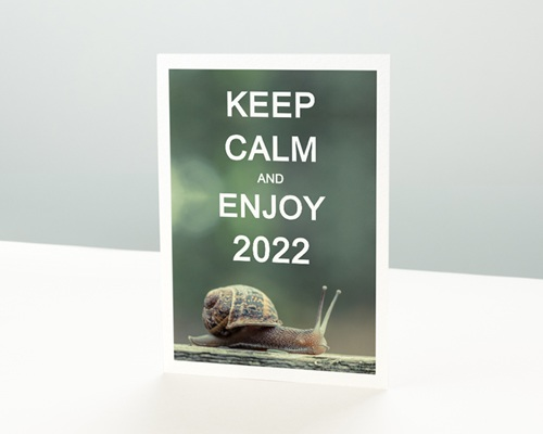 Carte de voeux entreprise - Keep Calm
