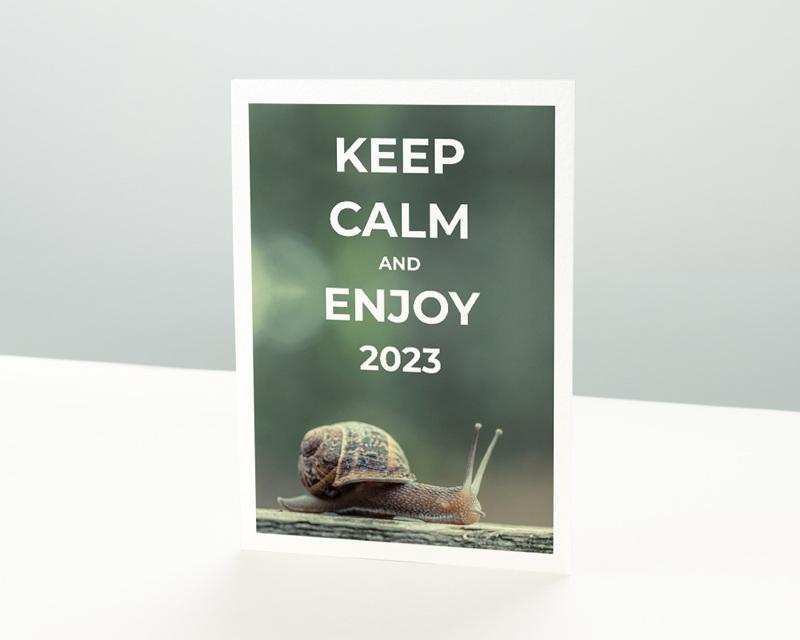 Carte de Voeux Entreprise Keep Calm