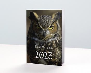 Carte de Voeux Entreprise 2021 Année Chouette