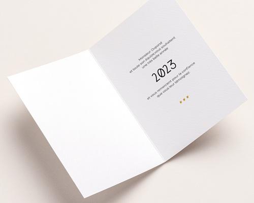 Carte de Voeux Entreprise Année Chouette pas cher