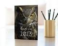 Carte de Voeux Entreprise Année Chouette gratuit