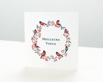 Carte de Voeux Professionnelle Couronne de Noël