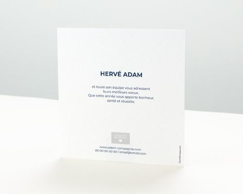 Carte de Voeux Entreprise Origami colombe bleue pas cher