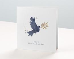 Carte de Voeux Entreprise Colombe de la Paix