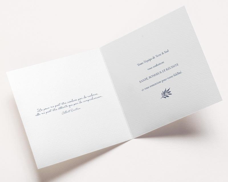 Carte de Voeux Entreprise Colombe de la Paix pas cher