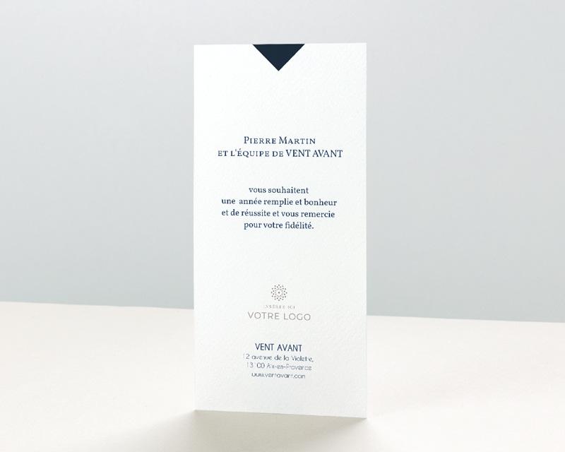 Carte de Voeux Entreprise Lignes et points dorés pas cher