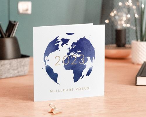Carte de Voeux Entreprise Monde entier gratuit