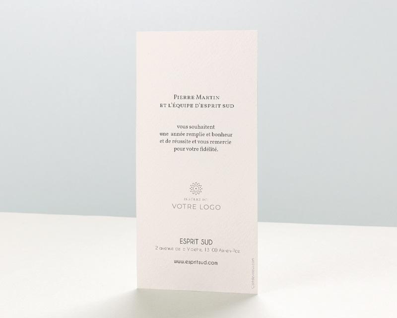 Carte de Voeux Entreprise Boule dorée pas cher