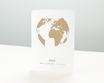 Carte de Voeux Professionnelle Terre dorée