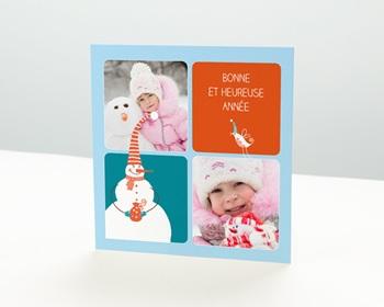 Carte de vœux particulier - Bleu comme Une Orange - 1