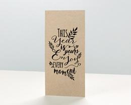 Carte de Voeux Entreprise New Year Kraft
