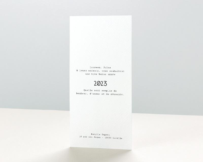 Carte de Voeux Entreprise New Year Kraft pas cher