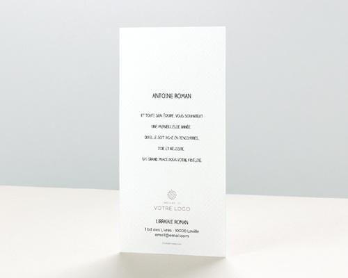 Carte de Voeux Entreprise Noel Blanc pas cher