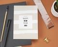 Carte de Voeux Entreprise Nouvel An Pastel gratuit