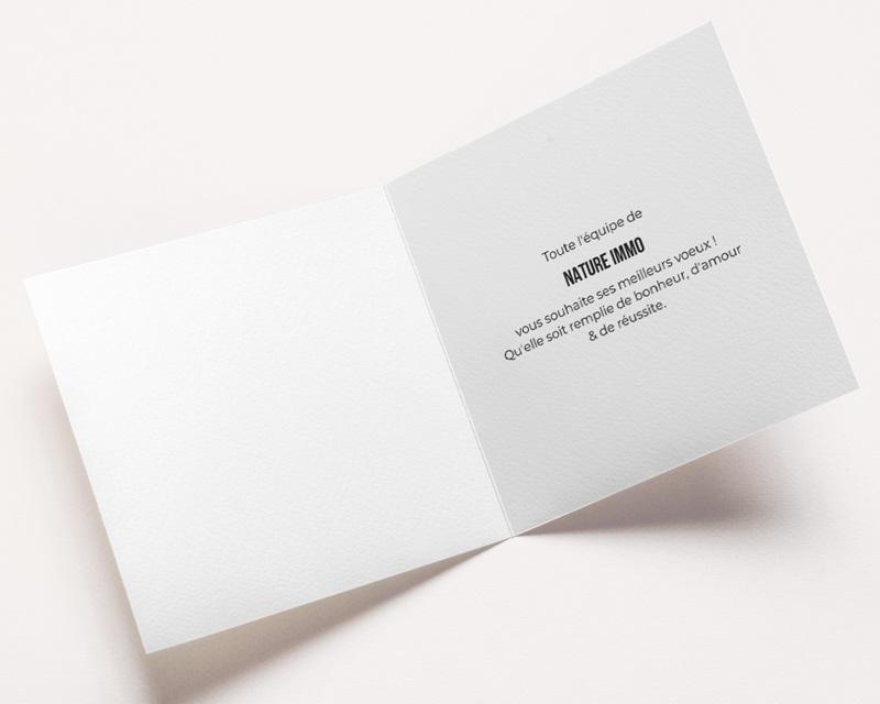 Carte de Voeux Entreprise Bleu & Doré pas cher